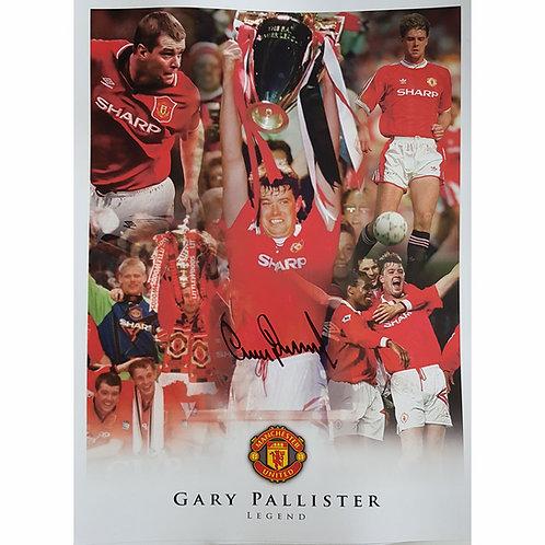 Gary Pallister Manchester United Autograph