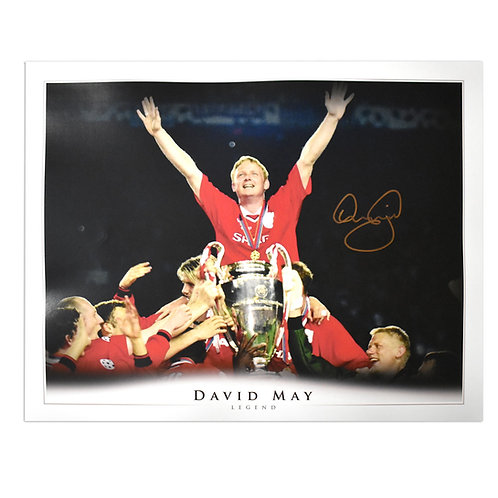 David May Man United Champions League 1999 Signed Picture