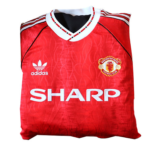 Manchester United 1990 - 1992 Home Shirt Cushion