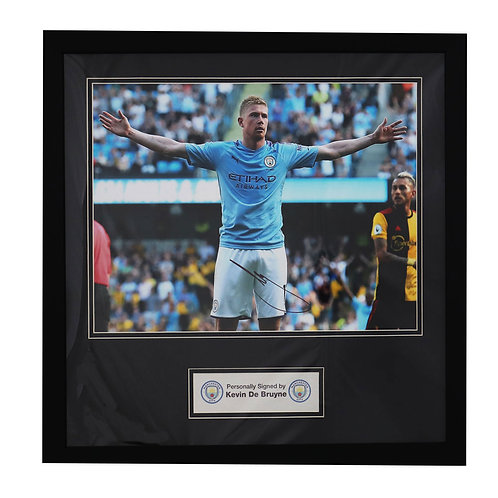 Kevin De Bruyne Man City Signed and Framed Photograph