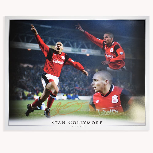 Stan Collymore Nottingham Forest Signed Large Montage