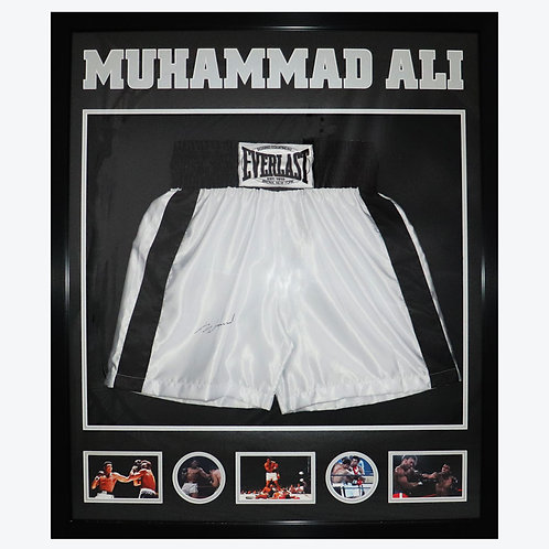 Muhammad Ali Signed and Framed Shorts