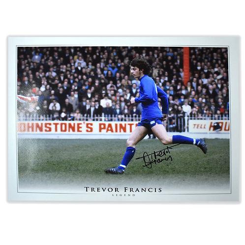 Trevor Francis Birmingham City 1970s Signed Picture
