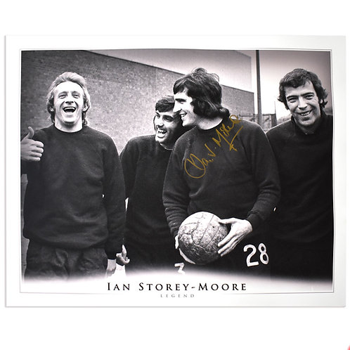 Ian Storey-Moore Manchester United Signed Picture - Large