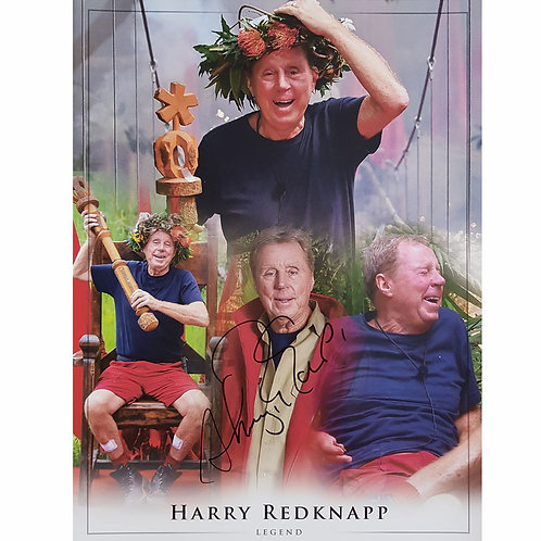 Harry Redknapp King of the Jungle Signed Montage