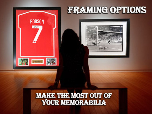 Your Framing and Display Options for your Memorabilia