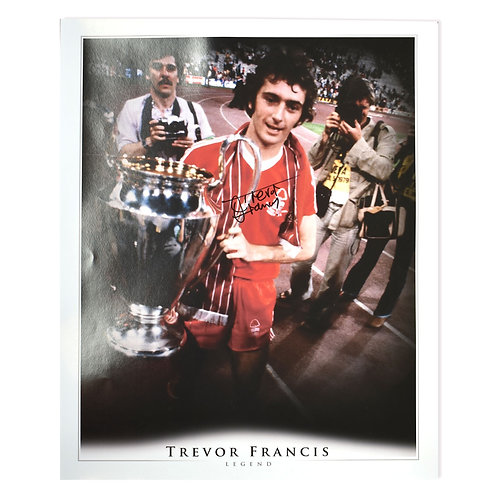 Trevor Francis Nottingham Forest European Cup Large Signed Picture
