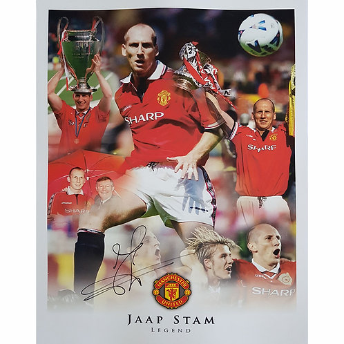 Jaap Stam Man United Signed Montage
