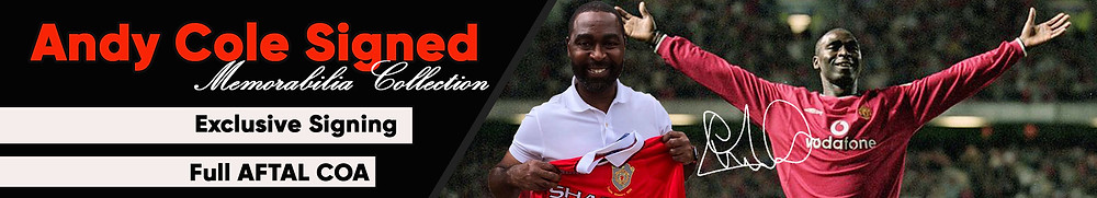 Andy Cole Man United Signed