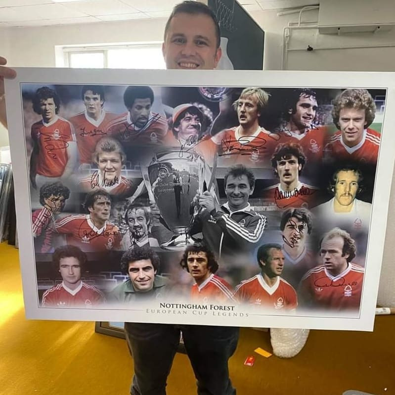 Nottingham Forest Signed Poster