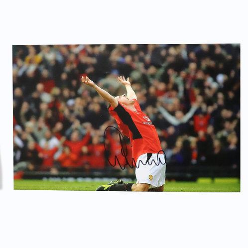 Gary Neville Celebration Signed Photograph