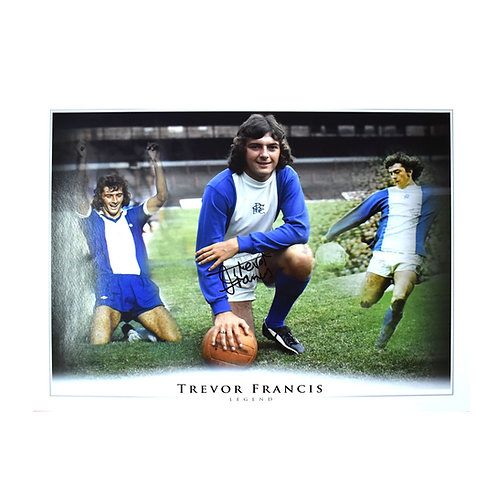Trevor Francis Birmingham City Signed Montage