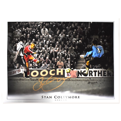 Stan Collymore Liverpool vs Newcastle Goal Signed Picture