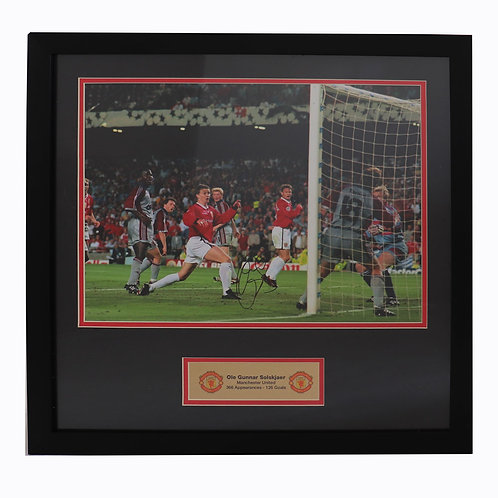 Ole Gunnar Solskjaer Manchester United Champions League Signed Picture