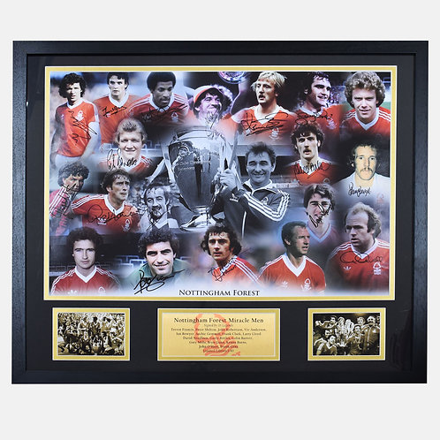Nottingham Forest European Cup Winners Signed and Framed A1 Poster