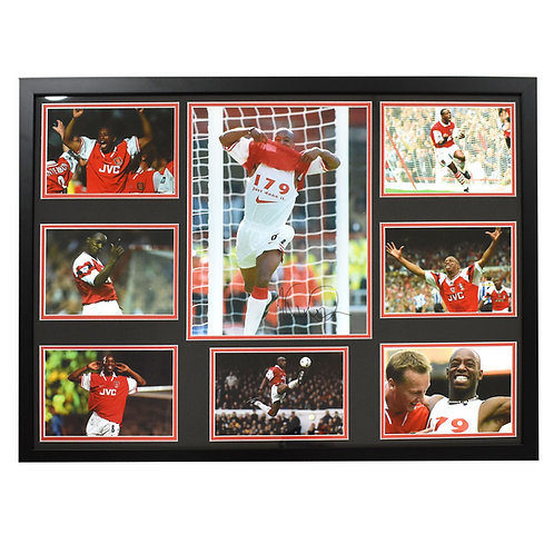 Ian Wright Arsenal Signed and Framed Large Montage