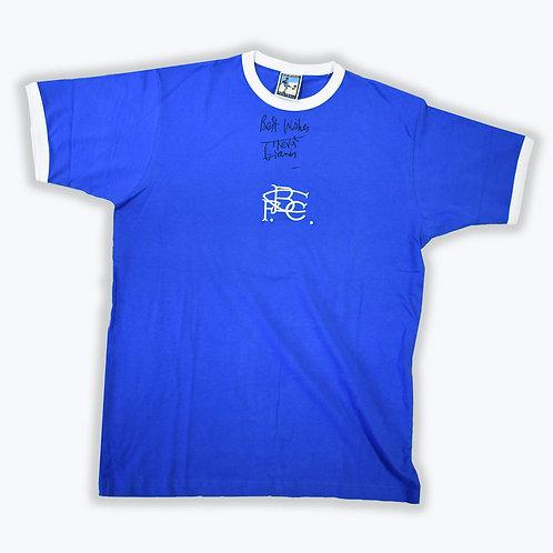 Trevor Francis Signed Birmingham City Shirt -Signed on Front