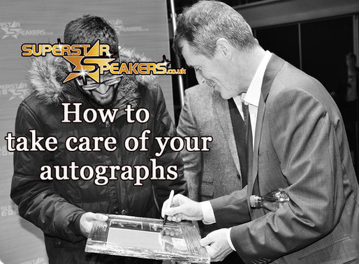 How to take care of your Autographs and Memorabilia