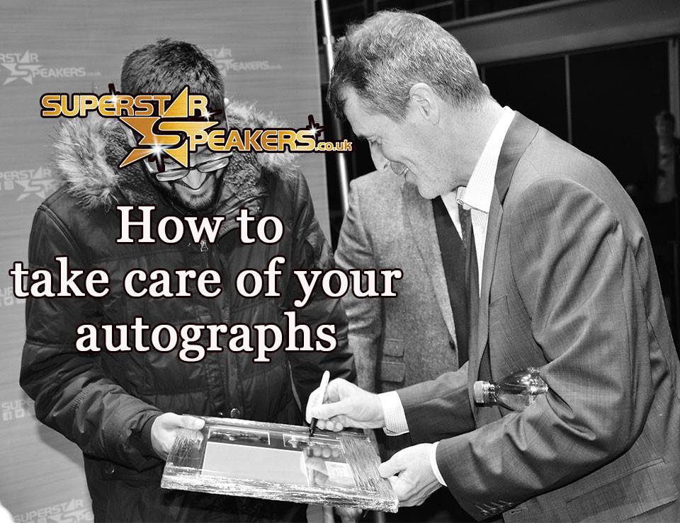 How to take care of your autographs