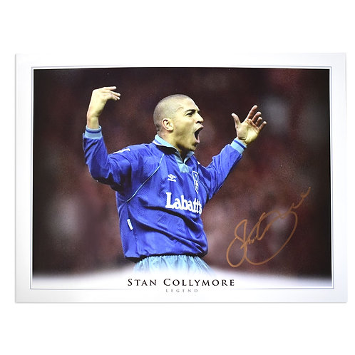 Stan Collymore Nottingham Forest Signed Celebration Picture