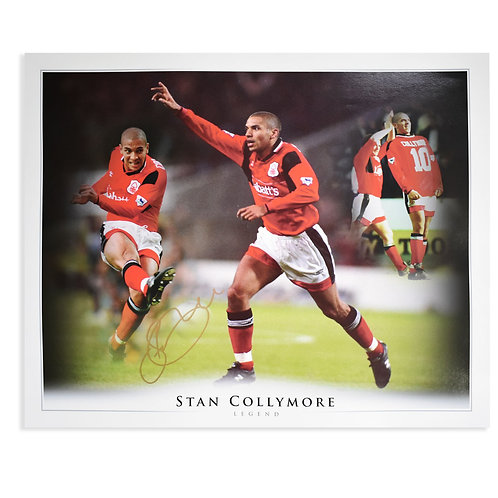 Stan Collymore Signed Nottingham Forest Montage