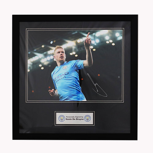 Kevin De Bruyne Manchester City Signed and Framed Picture