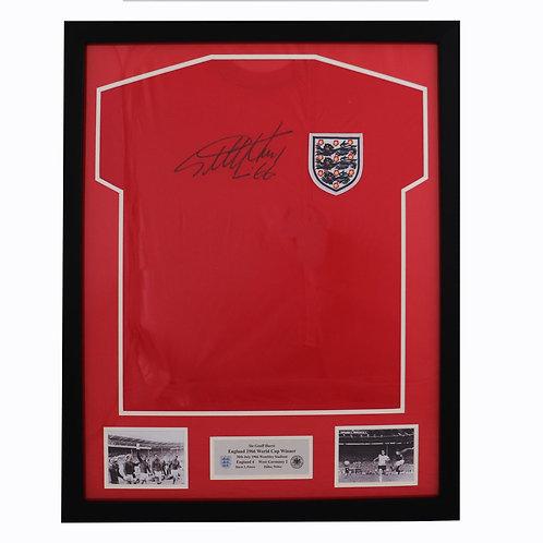 Sir Geoff Hurst England 1966 Shirt - FRAMED