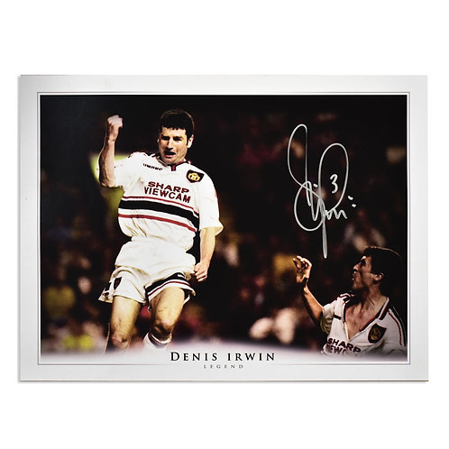 Denis Irwin Man Utd Vs Liverpool Goal Signed Pictures