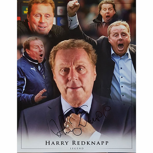 Harry Redknapp Signed Manager Montage