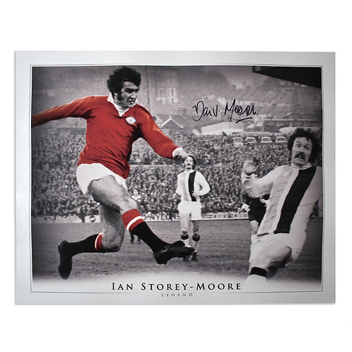 Ian Storey-Moore Signed Manchester United Picture - Large