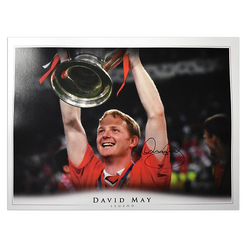 David May Man United Treble 1999 Signed Picture