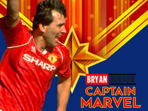 Bryan Robson. Captain Marvel