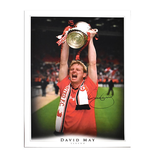David May Signed Man United FA Cup 1996 Picture