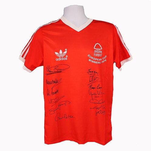 Nottingham Forest European Cup Legends Signed Shirt