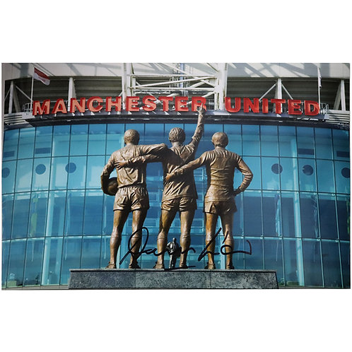 Denis Law Signed Photo - The United Trinity