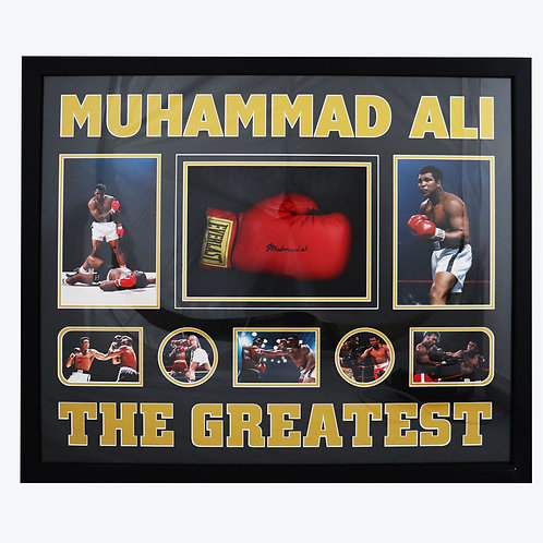 Muhammad Ali Signed and Framed Boxing Glove