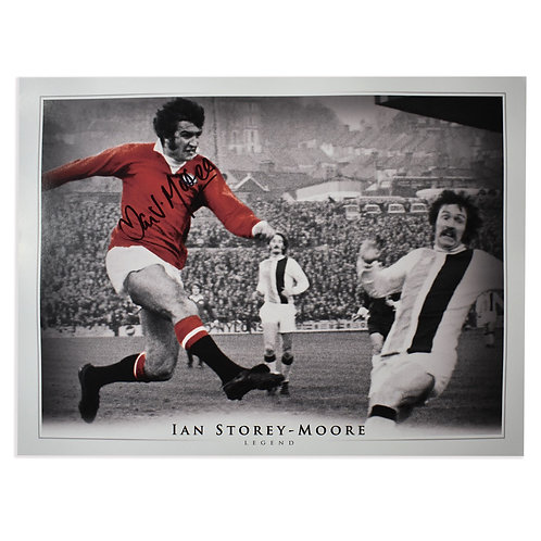 Ian Storey-Moore Signed Manchester United Picture