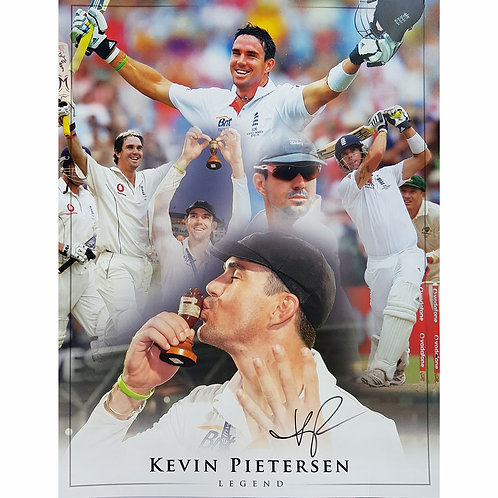 Kevin Pietersen England Cricket Signed  Montage