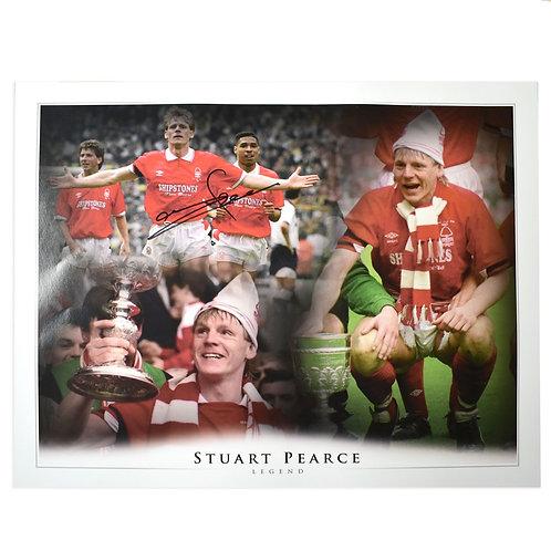 Stuart Pearce Signed Nottingham Forest Montage