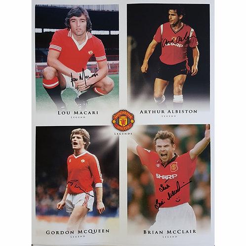 Scottish Manchester United Legends Signed Montage