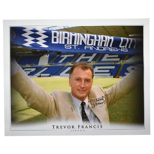 Trevor Francis Birmingham City Signed Large Picture