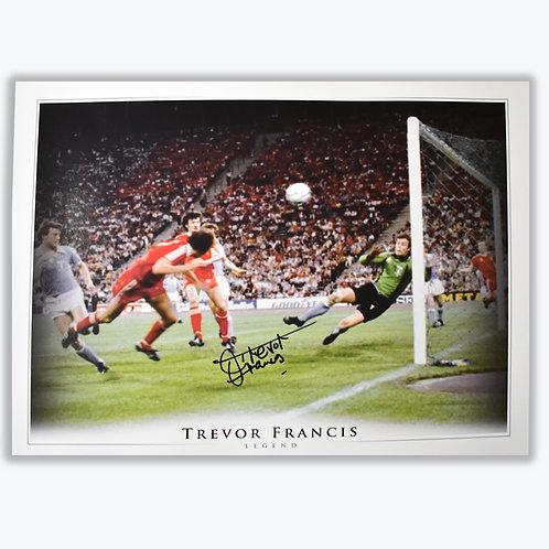 Trevor Francis Nottingham Forest European Cup Goal Signed Picture
