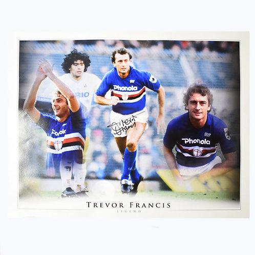 Trevor Francis Sampdoria Signed Montage