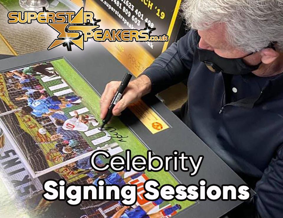 Signing memorabilia