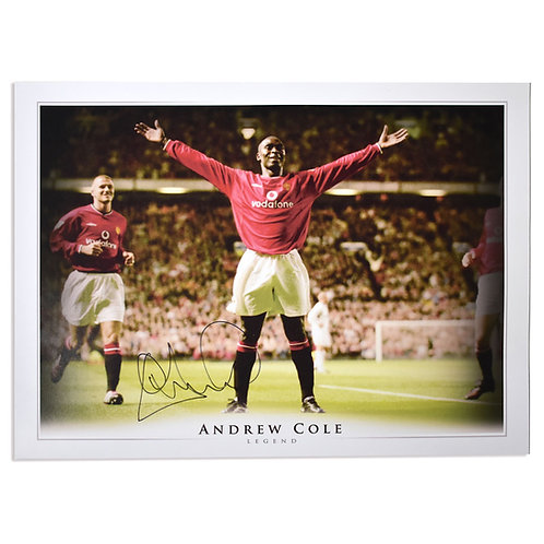 Andy Cole Manchester United Signed Picture