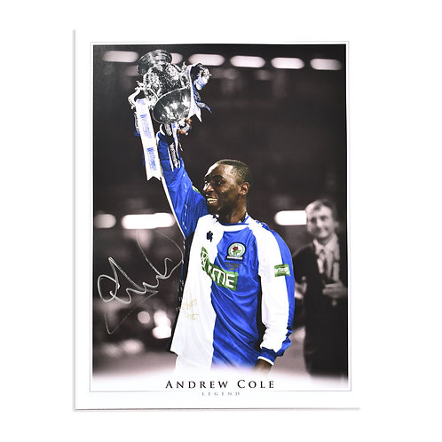 Andy Cole Blackburn Rovers Signed Picture