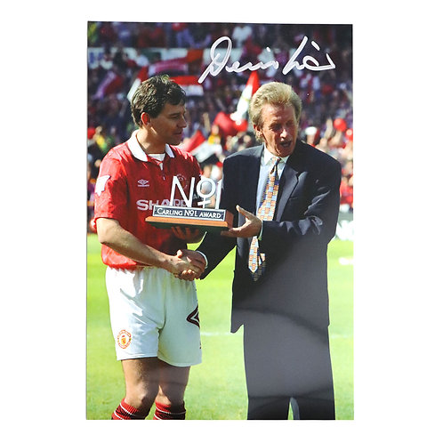 Denis Law Manchester United Signed Photo - With Bryan Robson
