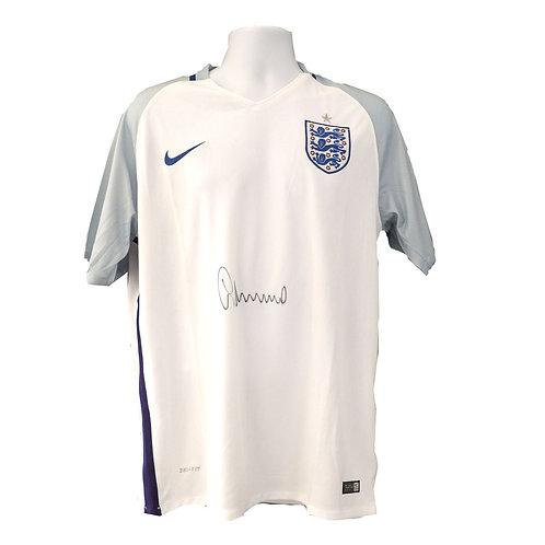 Gary Neville Signed England Shirt