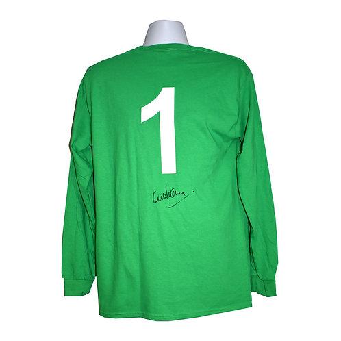 Alex Stepney Manchester United Signed Shirt - Back