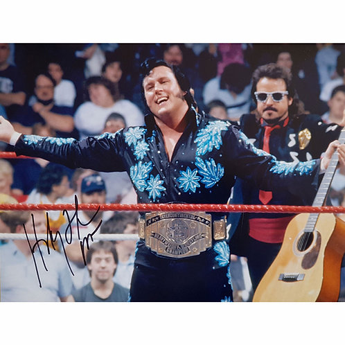 WWE Honky Tonk Man Signed Intercontinental Champion Photograph
